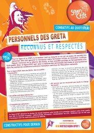 Réforme des GRETA - Sgen-CFDT Poitou-Charentes