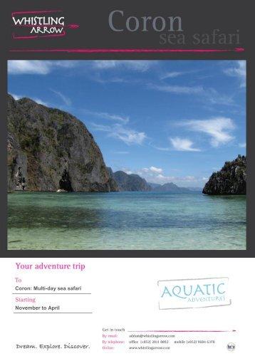 Coron: Multi-day sea safari November to April - Whistling Arrow