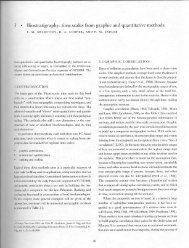 Biostratigraphy: time scales from graphic and quantitative methods