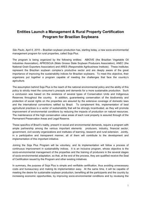 Entities Launch a Management & Rural Property Certification ...