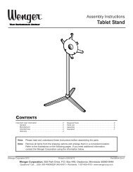 Assembly Instructions - Wenger Corporation