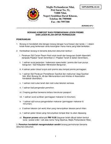 06-7989000 Fax : 06-7997300 - Majlis Perbandaran Nilai