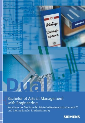 Bachelor of Arts in Management with Engineering - Siemens ...