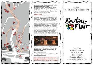 Flyer Download als PDF - Beutau-Flair