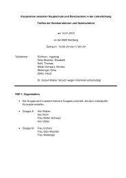 Planung RG Bamberg - Schulen in Oberfranken