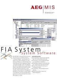 download FIA System Software brochure as PDF - AEG Gesellschaft ...