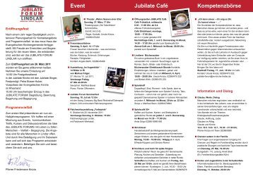 Programm März - Oktober 2011 - Evangelische Kirchengemeinde ...