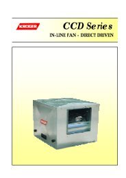 General Instructions (Centrifugal Fan) - Kruger Ventilation