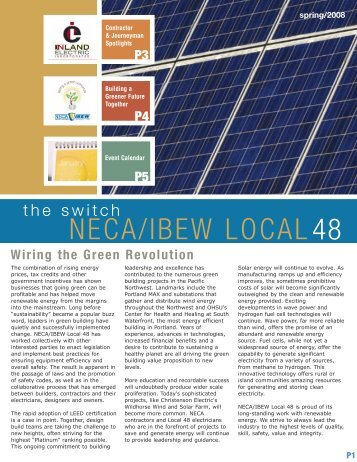 P7 NECA/IBEW Local 48 in the News - NECA | IBEW 48