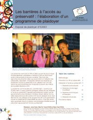 Les barrières à l'accès au préservatif : l'élaboration d'un ... - icaso