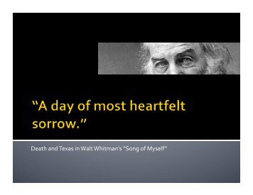 """Death and Texas in Walt Whitman's """"Song of Myself"""""""