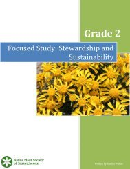Grade 2 Lesson Plan - Native Plant Society of Saskatchewan