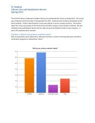 UHV Faculty Library Use and Satisfaction Survey - VC/UHV Library