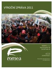 VÝROČNÍ ZPRÁVA 2011 - Romea.cz