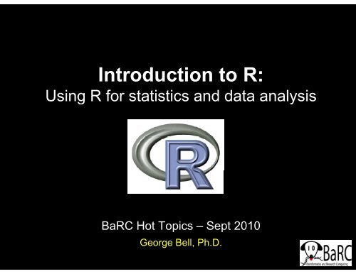 Bioinformatics and Research Computing - MIT