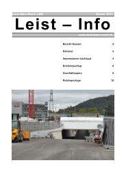 Leist-Info Winter 2011 - Leist•Bern•Nord