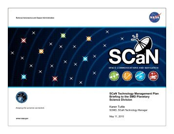 SCaN Technology Management Plan - Space Flight Systems - NASA