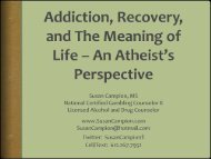 Addiction, Recovery, and The Meaning of Life – An Atheists ...