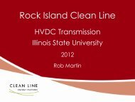 Rock Island Clean Line - Center for Advanced BioEnergy Research
