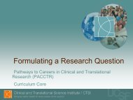 Formulating a Research Question - Accelerate