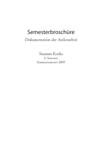 Semesterbroschüre Susanne Kocks 4. Semester