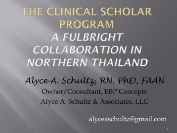 Alyce A. Schultz, RN, PhD, FAAN - IUPUI