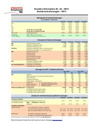Kunden-Information Nr. 22 - 2012 Sozialversicherungen - 2013