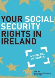 Your social security rights in Ireland - A Guide for EU ... - Welfare.ie