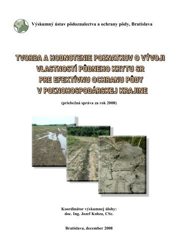 Výskumný ústav pôdoznalectva a ochrany pôdy, Bratislava