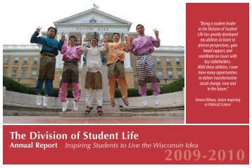 2009–2010 - Division of Student Life - University of Wisconsin ...