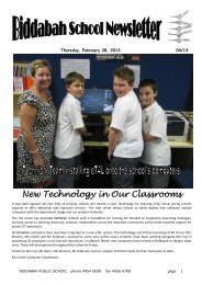 New Technology in Our Classrooms - Biddabah Public School