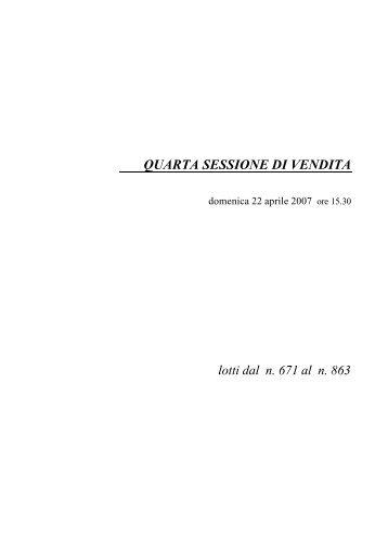 QUARTA SESSIONE DI VENDITA - Eurantico
