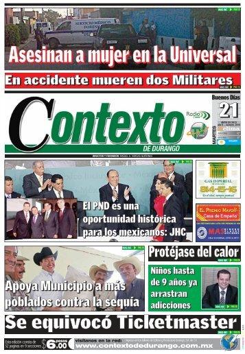 21/05/2013 - Contexto de Durango