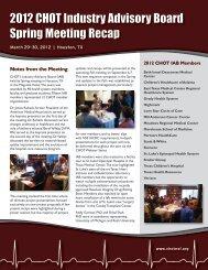 RECAP: CHOT's 2012 Spring Industry Advisory Board Meeting