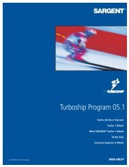Turboship Program 05.1 - Sargent Locks
