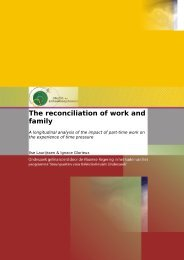 The reconciliation of work and family