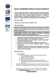 Výzva k předkládání žádostí o finanční příspěvek - Trenčiansky ...