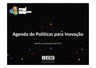 Agenda de Políticas para a Inovação