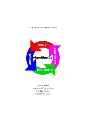 Algorithmics design implement analyze experiment - ITI Algorithmik II