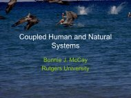 Coupled Human and Natural Systems - Institute of Marine Sciences ...