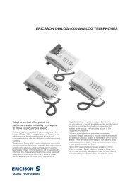 ERICSSON DIALOG 4000 ANALOG TELEPHONES - BODI Systems