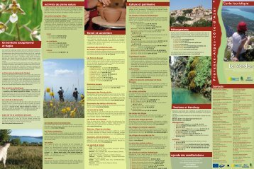 Carte touristique du Verdon 2011 - Aups