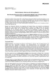 """""""Mendini/Bisazza. Werke aus der Stiftung Bisazza"""" Eine ..."""