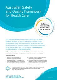 Australian Safety and Quality Framework for Health Care (PDF 569KB)