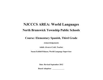 Elementary Grade 3 Spanish Curriculum (pdf) - North Brunswick ...