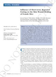 Influence of Short-term, Repeated Fasting on the Skin ... - Wounds