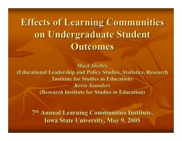 (presented at the May 2005 LC Institute) (pdf) - Learning ...
