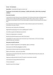 Secteur : Arts plastiques Description : L'association Art ... - Cipac