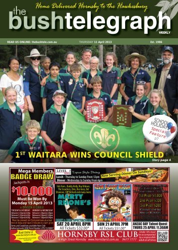 11th April 2013 - The Bush Telegraph Weekly