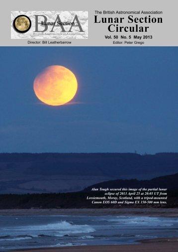 Vol 50, No 5, May 2013 - BAA Lunar Section